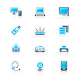 Office electronics icons | MARINE series Royalty Free Stock Photo