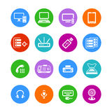 Office electronics icons Royalty Free Stock Image
