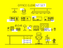 Office element set vector illustration Royalty Free Stock Images