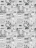 Office elements doodles hand drawn line icon, eps10 Royalty Free Stock Photography