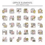 Office Elements , Thin Line and Pixel Perfect Icons Royalty Free Stock Images