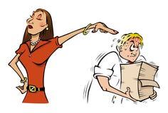 Office employee bitch. Cartoon illustration of a office employee bitch Royalty Free Stock Photos