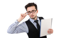 The office employee holding paper Royalty Free Stock Photo
