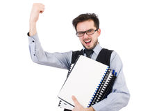 The office employee holding paper Royalty Free Stock Photos