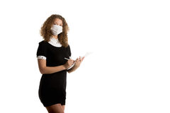 Office employee in mask Royalty Free Stock Image