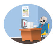 Office employee skeleton Stock Photography