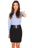 Office employee on a white background Royalty Free Stock Photos