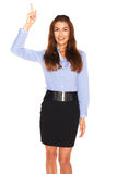 Office employee on a white background Royalty Free Stock Photo