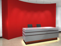 Office entrance. This graphic is Office entrance. 3d render Royalty Free Stock Photo
