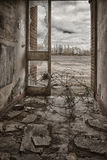 Office entrance. Abandoned office building, urban exploration, hdr royalty free stock photos