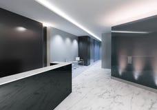 Office Entrance Area vector illustration