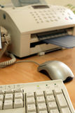 Office equipment. Including fax machine, keyboard and mouse Royalty Free Stock Image