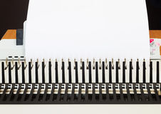 Office equipment bookbinding Royalty Free Stock Photo