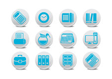 Office equipment buttons Royalty Free Stock Images