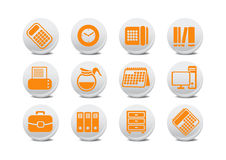 Office equipment buttons Stock Photo