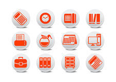 Office equipment buttons Royalty Free Stock Photo