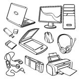 Office equipment Collection Royalty Free Stock Images