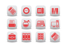 Office equipment icons Royalty Free Stock Image