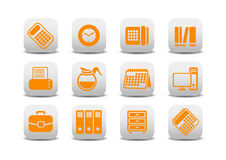 Office equipment icons Royalty Free Stock Images