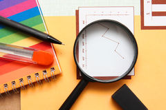 Office equipment,magnifying Stock Image