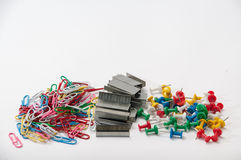 Office equipment in a pile Stock Images
