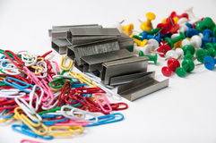 Office equipment in a pile Royalty Free Stock Images
