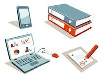 Office equipment set royalty free illustration