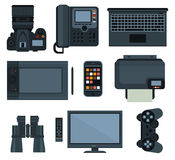 Office equipment .set of vector icon Stock Images