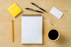 Office equipment on table Stock Photos