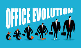 Office Evolution. Office plankton turns into boss. Shrimp in hum Royalty Free Stock Photos