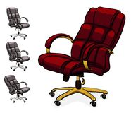 Office executive leather desk chair. Stock Photo