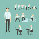 Office Exercises vector illustration