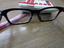 Office. Eyeglass and office Royalty Free Stock Photography