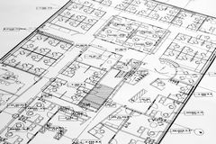 Office F loorplan. This is an image of an office floorplan royalty free stock photos