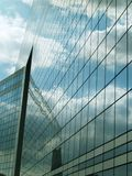 Office facade. Reflection of the sky Royalty Free Stock Photos