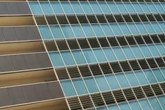 Office facade. Modern office park glass facade. Cloud reflect in the wall Stock Photo