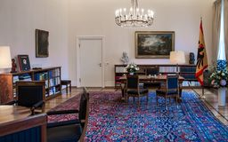 Office of the Federal President of Germany stock photo