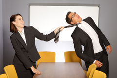 Office fight Royalty Free Stock Photo