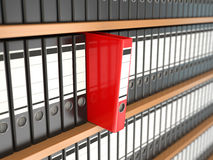 Office file binders on shelf. Archive. Stock Photography