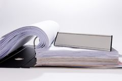 Office with file folder and blank sign. For your text Royalty Free Stock Photos
