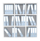 Office File Folders standing on the Shelves. On a white background Royalty Free Stock Images