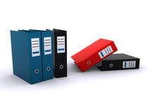 Office files. 3d render of office files over a white background Stock Photography