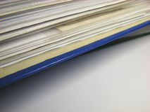 Office files 2. Closed binder with invoice and office files stock image
