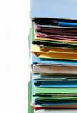 Office files and folders. A pile of office files and folders isolated on white Stock Image