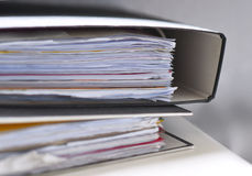 Office files, stack. Stock Images