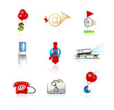 Office and finance icons set Royalty Free Stock Photography