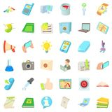 Office firm icons set, cartoon style. Office firm icons set. Cartoon set of 36 office firm vector icons for web isolated on white background Royalty Free Stock Images