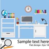 Office Flat design. Vector illustration Stock Images