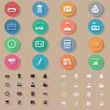 Office flat icons set Stock Image