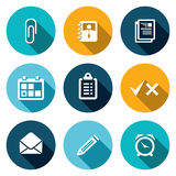 Office flat icons set Royalty Free Stock Images